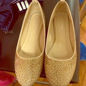 Shoes - Rhinestone Ballerina Flats size 7